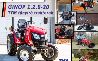 GINOP 1.2.9-20 – Építse be fejlesztési pályázatába a TYM fűnyíró traktorait!